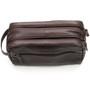Alpine Swiss Sedona Toiletry Bag Genuine Leather Shaving Kit Dopp Kit Travel Case
