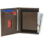 Alpine Swiss Double Diamond RFID Stretch Front Pocket Wallet