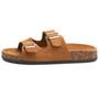 Alpine Swiss Womens Casual Double Strap Slide Sandals