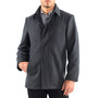 Alpine Swiss Vance Mens Wool Blend Button Up Coat