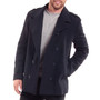 Alpine Swiss Jake Mens Wool Pea Coat Double Breasted Jacket
