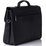 Alpine Swiss Business Portfolio Genuine Leather Briefcase Flap-Over Locking Case + Sono Travel Safety Cleaning & Disinfectant Kit