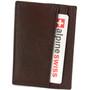 Alpine Swiss Front Pocket Wallet Minimalist Super Thin 5 Card Wallet Genuine Leather
