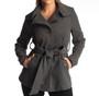 Alpine Swiss Bella Womens Wool Coat Button Up Jacket Belted Blazer
