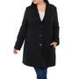 Alpine Swiss Alice Womens Plus Size Wool Overcoat Classic Notch Lapel Walking Coat