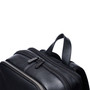 "Alpine Swiss Men's Sloan Slim 14.1"" Laptop Backpack Top Grain Leather + Sono Travel Safety Cleaning & Disinfectant Kit"