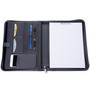 Alpine Swiss Nylon Zippered Writing Pad Business Organizer Portfolio with Tablet Sleeve