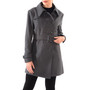 Alpine Swiss Keira Womens Burgundy Wool Double Breasted Belted Trench Coat