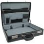 Alpine Swiss Expandable Leather Attache Briefcase Dual Combination Locks