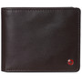 Alpine Swiss Mens RFID Protected Nolan Leather Wallet Center Flip Commuter Bifold Comes in Gift Box