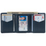 Alpine Swiss Leon Mens RFID Safe Trifold Wallet Cowhide Leather Comes in a Gift Box