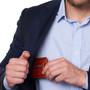 Alpine Swiss Dermot Mens RFID Safe Money Clip Front Pocket Wallet Leather Comes in Gift Box