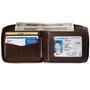 Alpine Swiss Logan Mens RFID Safe Zip Around Wallet Cowhide Leather Zipper Bifold with Gift Box