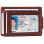 Alpine Swiss Harper Mens RFID Slim Money Clip Front Pocket Wallet Minimalist Leather ID Card Holder