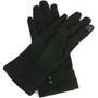 Alpine Swiss Womens Wool & Leather Trim Touch Screen Dressy Button Gloves