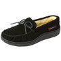 Alpine Swiss Sabine Womens Genuine Suede Shearling Slip On Moccasin Slippers