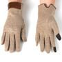 Alpine Swiss Womens Wool & Leather Trim Touch Screen Fashion Gloves