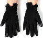 Alpine Swiss Womens Wool & Leather Trim Touch Screen Fashion Gloves