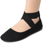 Alpine Swiss Peony Womens Ballet Flats Elastic Ankle Strap Shoes NARROW FIT