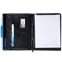 Alpine Swiss Leather Writing Pad Portfolio Business Case Left & Right Handed