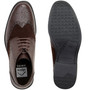 Alpine Swiss Geneva Mens Ankle Boots Lace Up TwoTone Brogue Wing Tip Dress Shoes