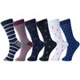 Alpine Swiss Mens Cotton 6 Pack Dress Socks Solid Ribbed Argyle Shoe Size 6-12