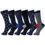 Alpine Swiss Mens Cotton 6 Pack Dress Socks Solid Ribbed Argyle Shoe Size 6-12