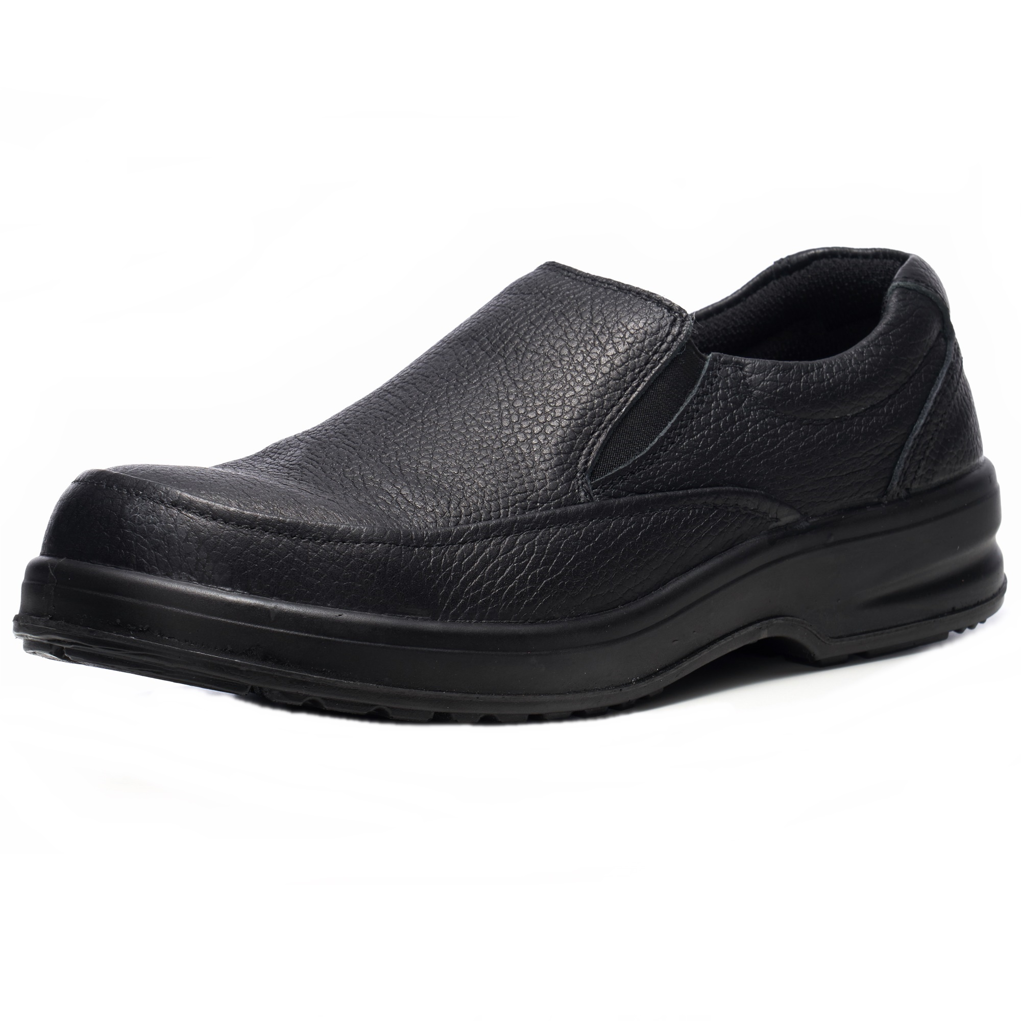 slip on leather work shoes