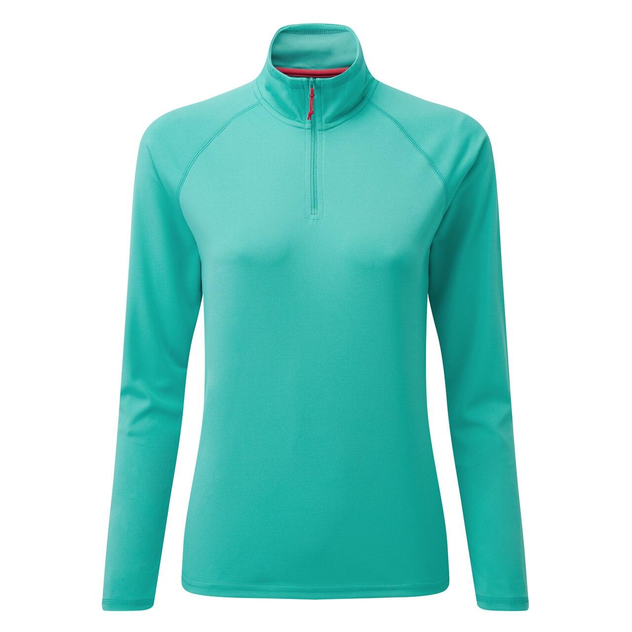 Women's UV Tec Long Sleeve Zip Tee - UV009W-TUR02-1.jpg