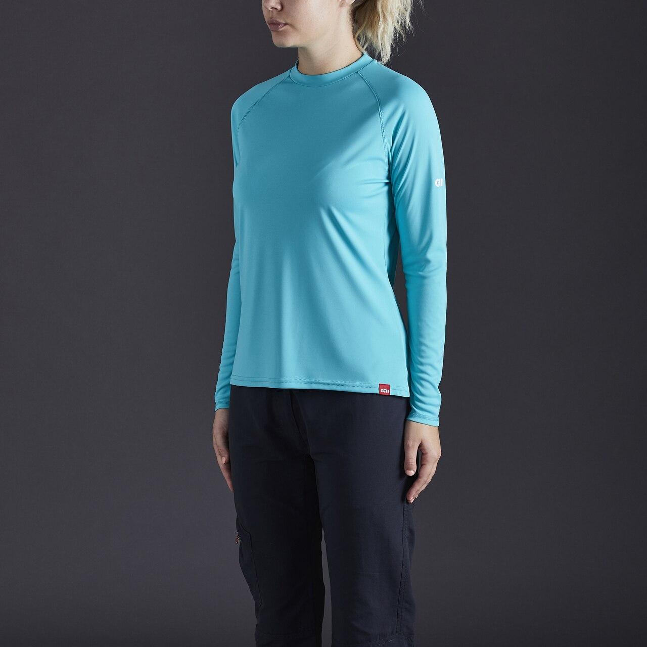 Women's UV Tec Long Sleeve Tee - UV011W-TUR02-MODEL-1.jpg