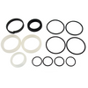 Seal kit is for Cottrell Aluminum cylinders. The rod size is 1.5 in. and the bore is 2.5 in. The actual measurement of the diameter for the cylinder is 2 7/8 in.. This seal kit will replace all of the seals in this size of cylinder.