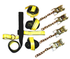 "The 4-Point Tie-Down System is used with Rollback equipment to attach on the front and the rear with the use of D-Rings or Keyslots. Each strap has a Work Load Limit of 4,000 lbs. and our 4-Point Rollback Tie-Down Systems are Corduraâ""¢ covered to resist"