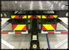 Jerr-Dan rear reflective decal kit. PN 1001166910s or 1001203303S