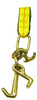 Secure vehicles with this Tie-Down Strap. Its versatile J, T and R hooks work well for auto and cargo control applications.  - Working load limit: 3,330 lbs.  - Width: 2 in.  - Length: 8 ft.   OEM Part Number: 38-100S