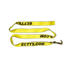This 8' Wheel Lift Strap comes with a Mini J Hook on One End. Warning: Never exceed working load limit.