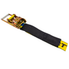 4in Heavy Duty Underlift Tie-Down Straps with Long Handle Ratchet and Protective Sleeve.