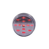 Maxxima - 2.5 in. Round LED Clearance Marker Light | Clear Lens, Red