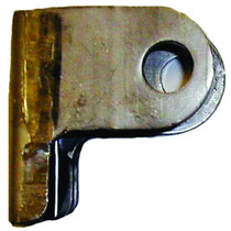 Use this cylinder bracket when the backside of the bracket sits flush to the post. The lip on the bottom will give you the extra length when welding the bracket into place. With this cylinder bracket in place and welded properly it will be a permanent hol