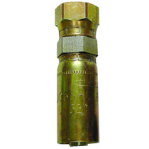 "3/8"" (#6) Seal LOK Straight Crimp - Female This is a crimp hose fitting from a pipe to a swivel, in order to keep your hoses from twisting. Made of Chromium. 1JS56-6-6,PAR,Parker"