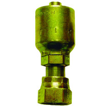 """3/8"""" (#6) Seal LOK Straight Swivel Permanent fitting when crimped into place on a 3/8"""" hydraulic hose. This fitting has a swivel head to prevent your hydraulic hoses from twisting. Made from steel, zinc dichromate plating to help prevent rust. 1JS43-6"""