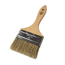 This Universal Application Brush works well with paint, enamel or graphite lube. It has a wooden handle and natural bristles to provide a smooth, even application and easy cleanup with mineral spirits.  - Width: 3 in.