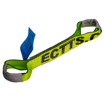 Expand tie-down reach with this strap. It comes with sewn ends that can be attached to various hooks on chains or other straps.