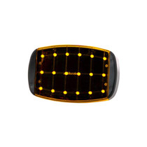 Feel more confident the next time you pull over for an emergency thanks to these Maxxima Lights. The LEDs are visible up to 1.25 miles away. Attach this emergency light to your stationary vehicle via magnets to signal passing vehicles. These Maxxima Lights Amber have steady, flash and split flash settings for more lighting options.  - 18 LEDS  - Color: Amber | OEM Part Number: SDL-50-A