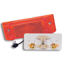 "Make your vehicle visible with these three red 2"" x 6"" TruckLite Marker & Clearance Lights. Their optic design doubles the function of one PC-rated lamp, and the LED's consume less power that be used for other vehicle components. 