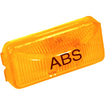 "Attach this amber Truck-Lite ABS Light to even narrow header rails with its simple snap-lock tabs. Its rectangular polycarbonate housing and lens can be mounted vertically or horizontally to provide a hassle-free solution to your lighting needs.  - Dimensions: 1.21"" x 2.49"" x 0.83""  - Long-life 15,000-hour incandescent bulb  - Suitable for PC requirements on a 45-degree angle"