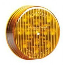 Maxxima 2 1/2in Round Clearance Marker - Amber Clear