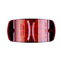 "Combo Red - 14 LED's  Red or Amber  LED's 14 x 5 mm  Width 4.00""  Height 2.00""  Depth 1.0""  Mounting Surface  Connector Bullet & Ring  Meets P2PC Requirements for 45 Mounting  One Piece Sealed Unit Fits Standard 3 Mounting Holes  100,000 Hour Rated LED Li"