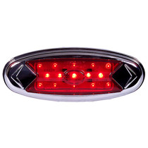 Get 100,000 hours of illumination out of this 15 LED Clearance Marker Light. Its voltage is 7.7-14.0V DC and is amperage is 0.6A, and it includes stainless steel bezels that snap on easily to hide the mounting screws.  - Weight: 0.2 lbs | OEM Part Number: Ã'