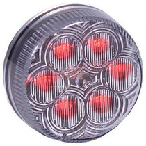 Ensure visibility of your vehicle with this Maxxima Vantage Round Clearance Marker. The red clear housing holds six bright LEDs for maximum brightness.