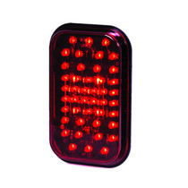Maxxima 5in Rectangular Red - STOP/TAIL/TURN
